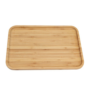 Wholesale movable food service plate, bamboo serving tea tray