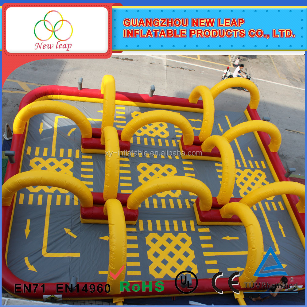 Go karts inflatable race air track , zorb ball inflatable racing <strong>games</strong>