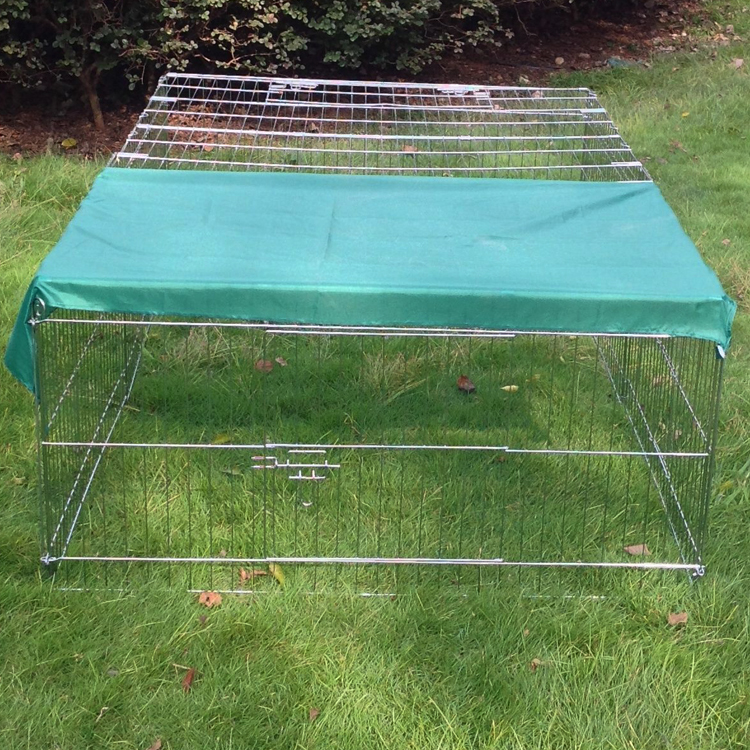 outdoor metal wire chicken cage with green sunshade manufacturer