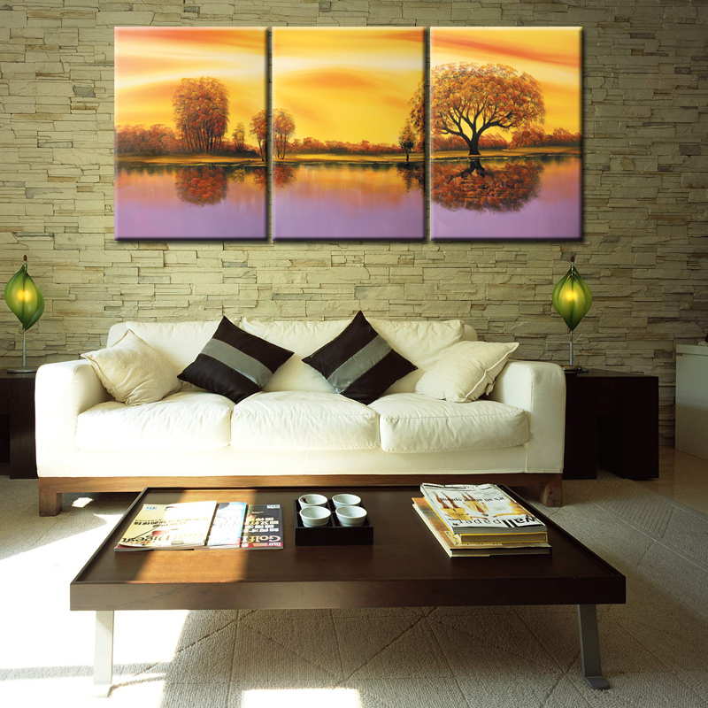 Wall Art Frameless Canvas Landscapes Oil Painting