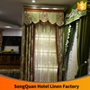 China supplier prints cotton linen home decorating window curtain textile