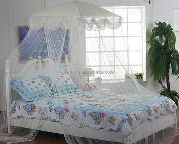 Lace luxury four corner square princess mosquito net bed canopy queen size bed mosquito net & Lace Luxury Four Corner Square Princess Mosquito Net Bed Canopy ...