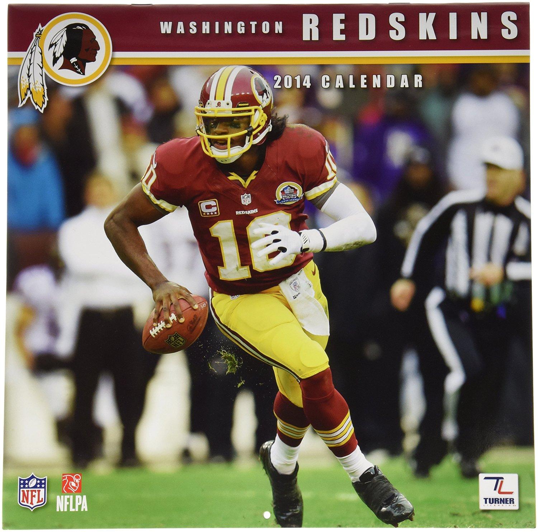 8af0ff4ca6b Turner - Perfect Timing 2014 Washington Redskins Team Wall Calendar