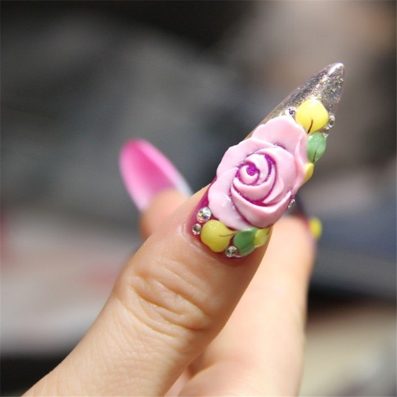 12 Color Emboss Soak Off Gel 4d Miniature Carving For Nail Art