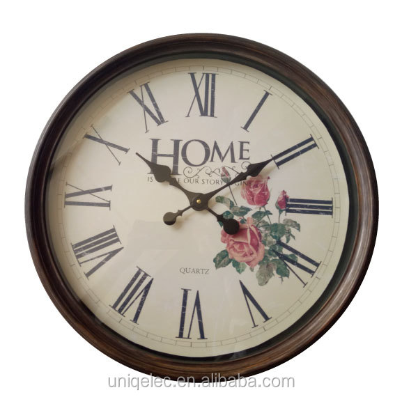 "20"" large round decorative retro plastic wall clock"