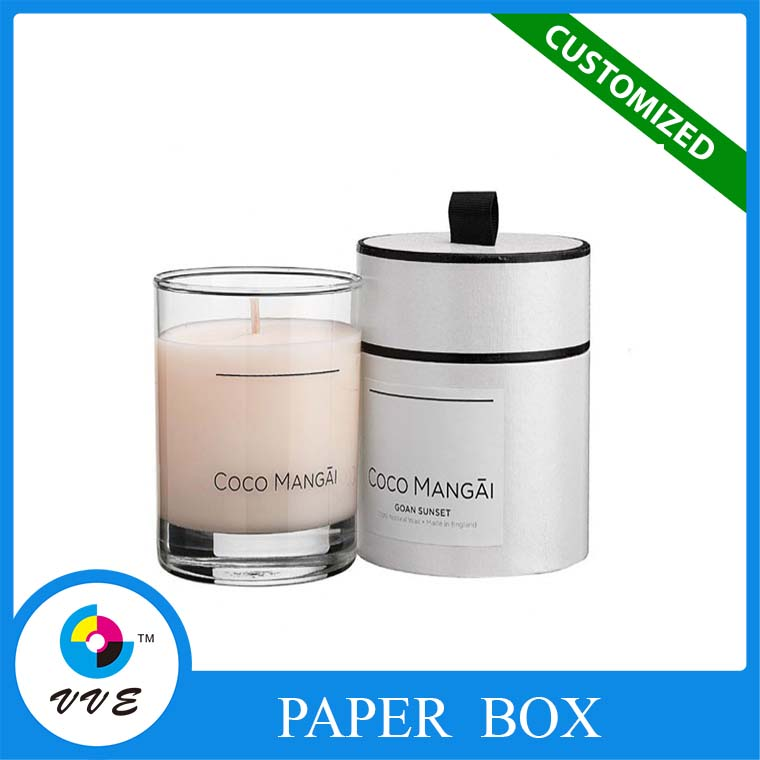 Wholesale recyclable round candle paper tube packaging box