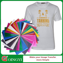 Heat transfer vinyl glitter with customized sheet size
