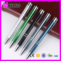 logo Aluminum metal ball pen aluminum for advertisement