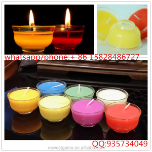 smokeless candles about 8 hours burning handmade round shape glasses foil cup tealight cup candle tea light cup candles tea