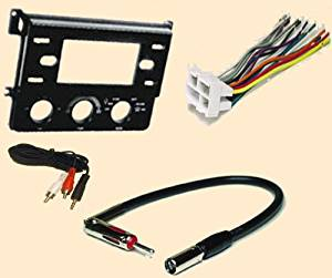 Chevy Chevolet Beretta 90 w AC and Corsica 1990 with factory AC - Stereo wiring Harness, Dash Install Kit Faceplate, with FM Antenna Adaptor (Combo Complete Aftermarket Stereo Wire and Installation Kit)