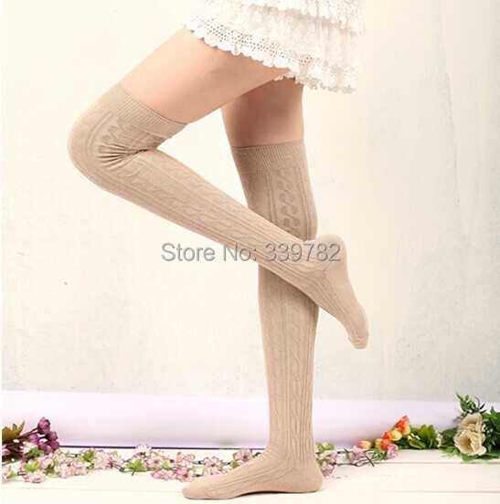 Free shipping Girls long knee socks Fashion Women Sexy Cotton Over The Knee Socks High quality Stockings 9 colors free size.