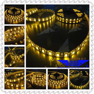 black pcb led strip yellow color lighting 5050 smd ribbon/band led tape chain light strip