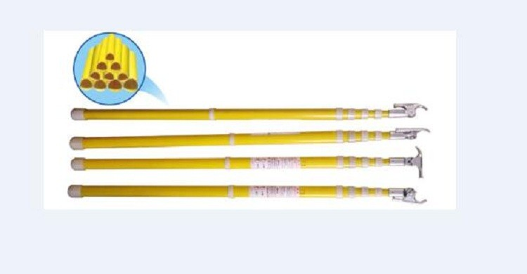8-12M Better quality Hot Stick/ Fiberglass High Voltage Operating Rod Stick CHINA SUPPLIER