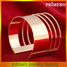 PRIMERO 2015 New fashion Bangles Women Europe exaggerate Jewelry bracelets Geometry pattern Metal cuff bracelet sexy bangle