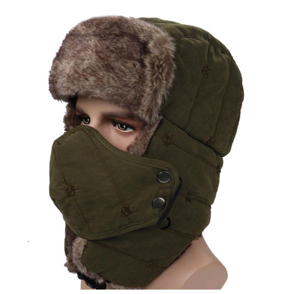 04b7d5433c56f Get Quotations · Ezyoutdoor Unisex Winter Trooper Hat Trapper Hat Hunting  Hat Ushanka Ear Flap Chin Strap and Windproof