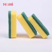 Household Cleaning Kitchen Scouring Pad Yellow Sponge Scourer for Dishwashing