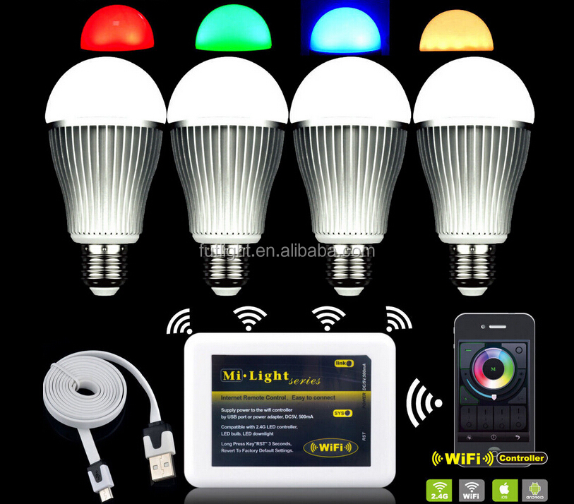 Rf Wireless Flix Rgb Led Light Bulb Color Changing With Warm White ...