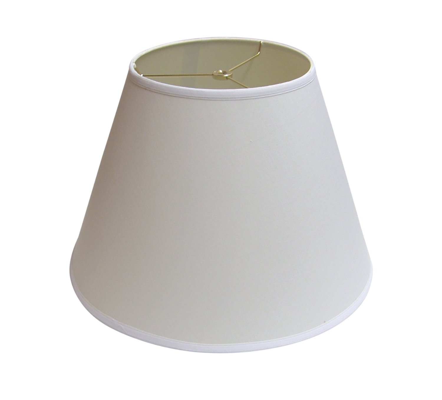 """A Ray Of Light 91712BW Linen Empire Lamp Shade, 12"""", White"""
