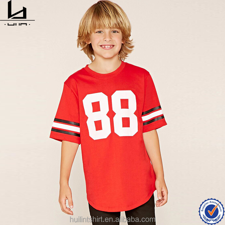 Enfants en gros boutique de vêtements enfants vêtements de sport confort couleurs sec fit football t shirt