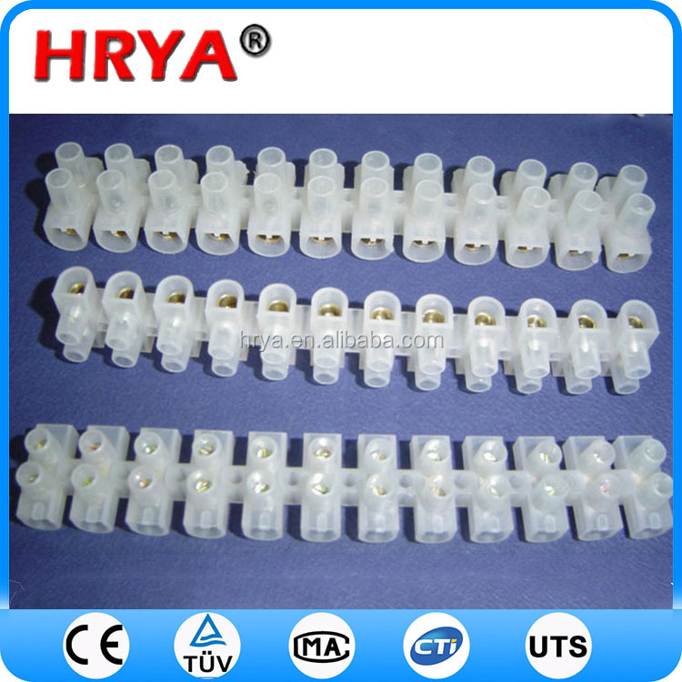 white 80a terminal block screw terminal block wire vertical to the pcb