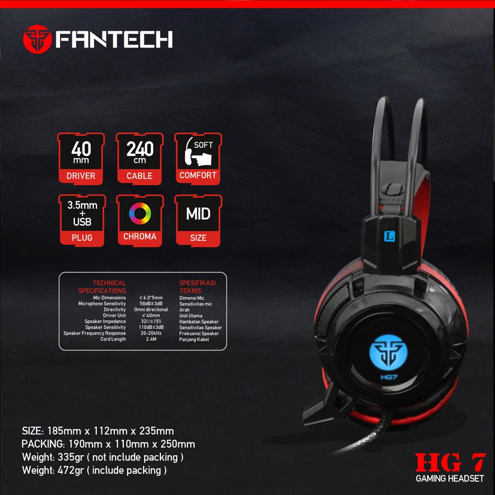 Fantech HG7 Новый Gaming Headset для PS4 голосового управления проводной Hi-Fi качество звука черный + красный