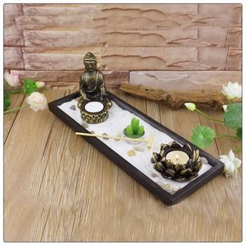 Antique Gautama Buddha Zen Garden Statue ,Asia Fengshui Indoor Zen Garden