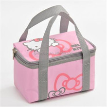 New Fashion Style Foil Lining Hello Kitty Lunch Bag