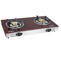 Hot sell tempered glass two burner gas cooker table head gas burner