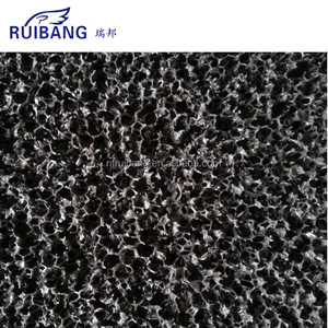 PU foam covered with granular activated carbon, activated carbon PU foam sponge Mattress Filter