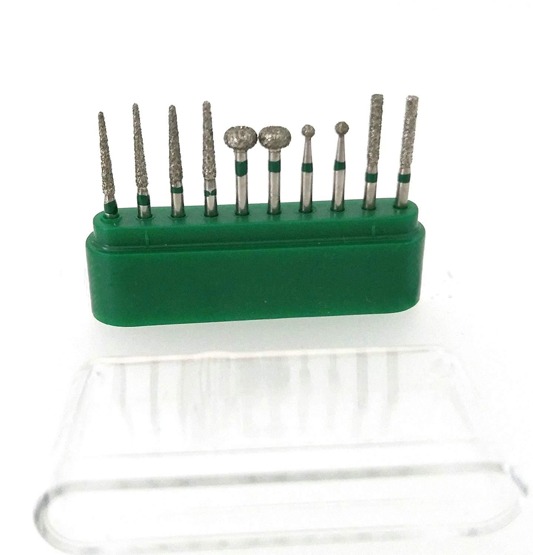 50Pcs 1.6mm Diamond Burs Drill Set FG Carborundum Burr Blue