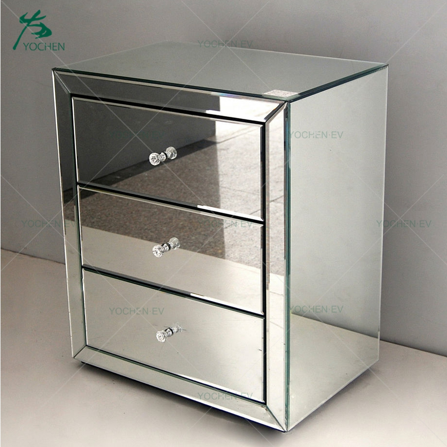 Mirrored Nightstand China