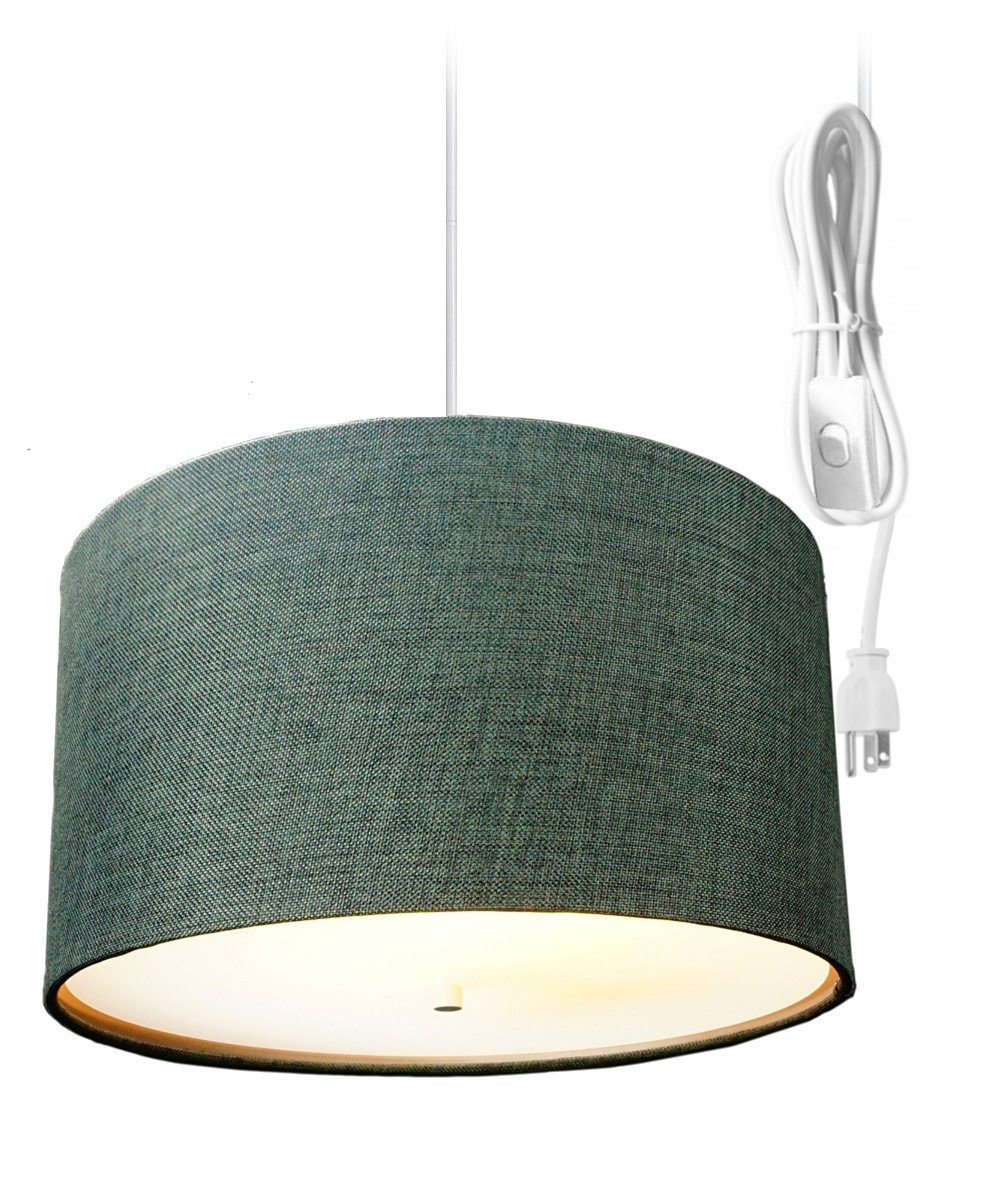 Cheap Hanging Swag Light Find Deals On Line At Wiring Kit Get Quotations 2 Plug In Pendant By Home Concept Lamp Shallow Drum