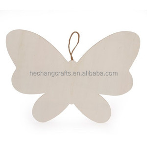 Unfinished Wood Butterfly with Hanger