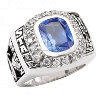 clear sapphire cubic zirconia custom men championship rings