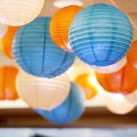 Hanging paper star lantern, led light round paper lantern, Paper star lanterns wholesale