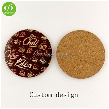 Wholesale Waterproof Heat Resistant Mdf Cork Coaster With Custom - Cork coaster bottoms