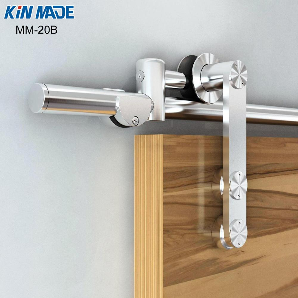 Modern European Style Stainless Steel Wood Sliding Barn Door Hardware Set Living Room Parion