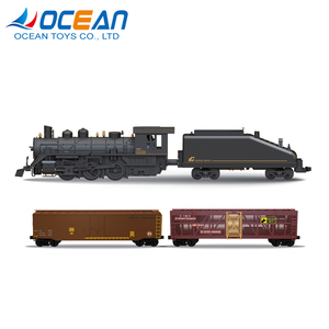 Kids electric diecast model toy train steam locomotives with light and sound