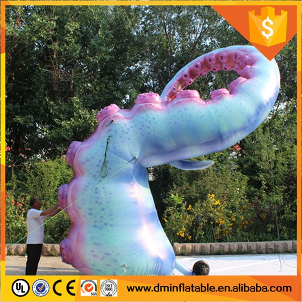 Inflatable Kraken Slide: Yantai Daming Customized Purple Giant Inflatable Octopus