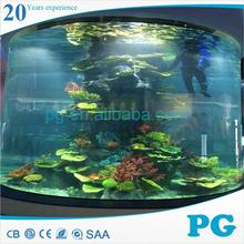PG Various Radius Shape Transparent Acrylic Glass Tunnel Aquarium