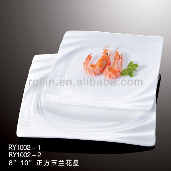 plates with sea food,porcelain dishes for restaurant,crockery for restaurant