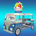 Hot sale square amusement park four seats pedal powered sightseeing bus car