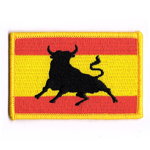 Wholesale custom bulk cheap high quality embroidery sew on flag patches
