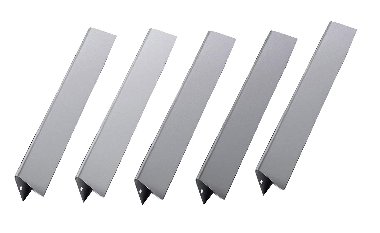 "Broilmann (5-pack) BBQ Gas Grill Stainless Steel Flavorizer Bars For Weber Spirit 300 Gas Grills With Front-Mounted Control Panel (Dimensions: 15 1/4"" x 2 3/5"", 16 Ga.)"