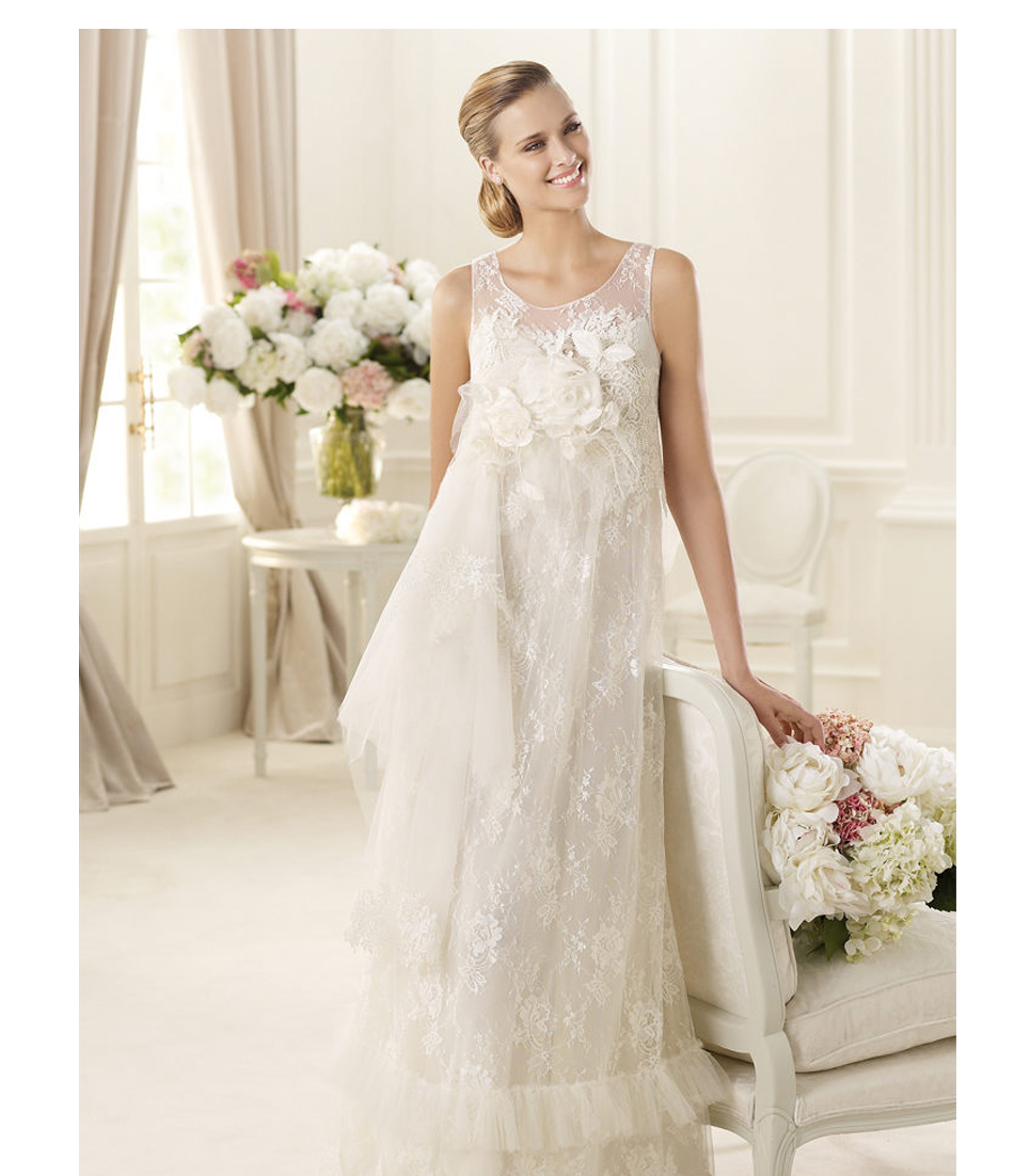 Beautiful Woman In Wedding Dress: Beautiful Sleeveless Love Forever Lace Wedding Dresses For