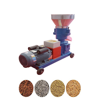Flat die 150-300 kg/h cattle poultry feed rice husk pellet making mill machine