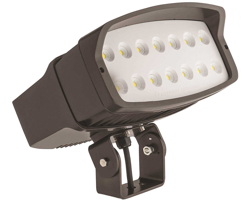 Lithonia Lighting OFL2 LED P3 50K MVOLT YK DDBXD M2 Led Size 2 Floodlight with P3 Performance Package, Yoke Mount, MVOLT, 5000K, 14500 Lumens