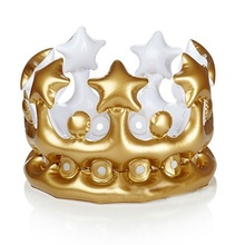 PVC Inflatable Crown Hat, Party Toys, Inflatable Toys King Crown Hat
