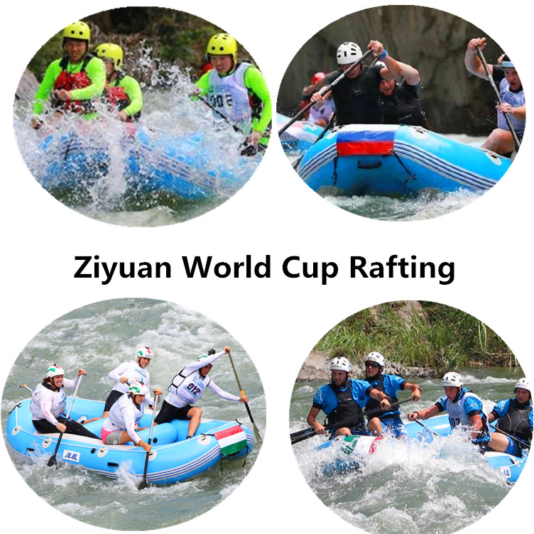 Yushu World Cup Rafting robuste 12ft 4 Spieler Schlauchboot