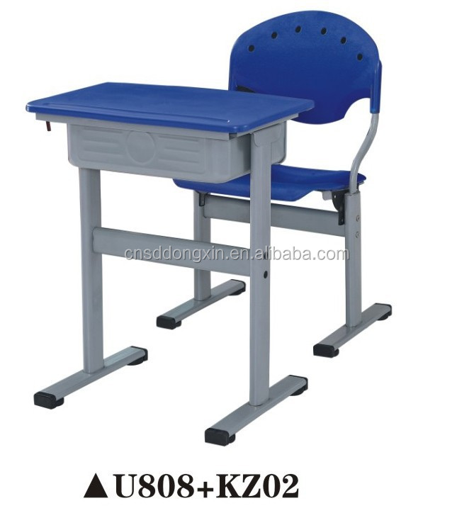 Classical style useful plastic student chair and desk U808+KZ02